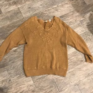Express knitted sweater fancy neckline